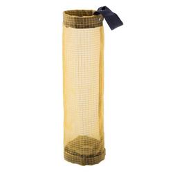 Masbekte Aufbewahrungstasche, Wandhängende AufbewahrungsTasche, Beutel Obst Gemüse Knoblauch Netztasche für Küche gelb