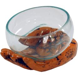 Guru-Shop Windlicht Teelichtglas aus Mundgeblasenem Glas auf.. orange