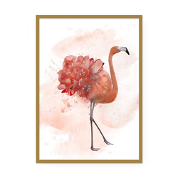 POSTORO Bild Flamingo Art, Flamingo