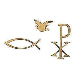 Rayher Klebemotiv Christliche Symbole gold 56 St.
