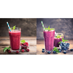 Berry smoothies Set Glas bunt GB-KUS1039 (BH 20x40 cm)