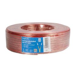 LogiLink Lautsprecherkabel, 2x 0,75 mm², 50m