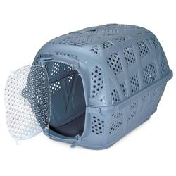 PETGARD Tiertransportbox Katzenkorb Katzentransportbox Hundebox, Kleintier Transportbox Reisebox blau blau