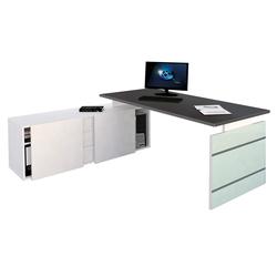 Schreibtisch mit Stauraum Domezk