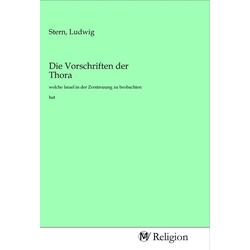 Die Vorschriften der Thora als Buch von