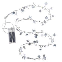BOLTZE Lichterkette Lichterkette STERN mit 10 LED silber Drahtlichterkette Batterie Weihnachten