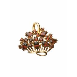 Adelia´s Brosche 333 Gold Brosche mit Granat