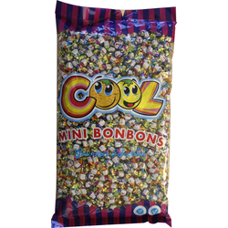 Cool Mini Bonbons 4 fach sortiert Wurfmaterial Fasching 3000g