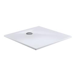 HSK Acryl-Duschwanne Plan mit Ablaufgarnitur und Füßen, weiß 100 x 100 x 3,5 cm