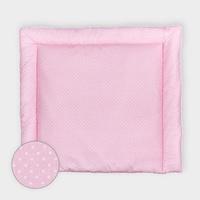 KraftKids Wickelauflage weiße Punkte auf Rosa, extra Weich (500 g/qm), mit antiallergenem Vlies gefüllt 75 cm x 70 cm