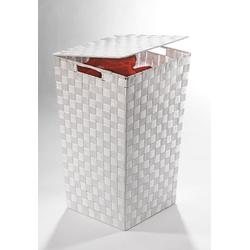 Home affaire Wäschekorb, aus Nylon und Metall weiß