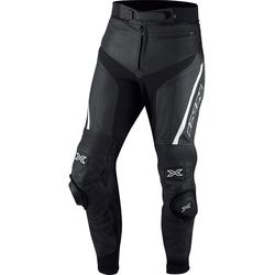 IXS Rouven Lederhose, schwarz-weiss, Größe 48