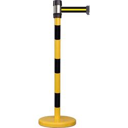 VISO BSK200BYB Gurtabsperrpfosten gelb / schwarz Gurt schwarz gelb schwarz (Ø x H) 50mm x 980mm