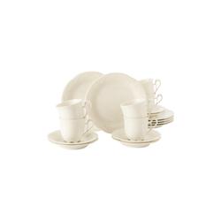 Seltmann Weiden Geschirr-Set Kaffeeservice 18-teilig - Rubin cream