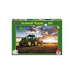 John Deere  Traktor 6150R mit Güllefass (Kinderpuzzle)