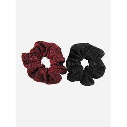 axy Zopfhalter XXL Scrunchie Haargummis Set, Doppelpack, 2-tlg., 2-Teiliges Scrunchies Haargummis Set, Zopfgummi Haarteil Haarband rot