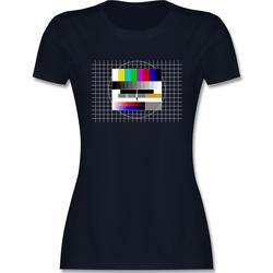 Shirtracer T-Shirt Fernseher TV Testbild - Damen Premium T-Shirt XL
