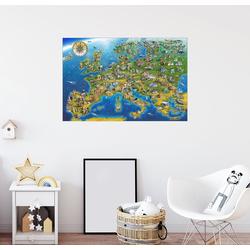 Posterlounge Wandbild, Europa mit Bauwerken 30 cm x 20 cm