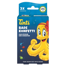 TINTI Badekonfetti 3er Pack DisplaySchale 3X6 g