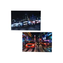 MCW LED-Bild LED-Bild-T-2, Cars (Set), Mit Timer, Leuchtbild, Ein-/Ausschalter 40 cm x 60 cm x 1.8 cm