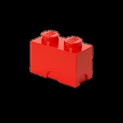 LEGO® Aufbewahrungsstein mit 2 Noppen in Rot