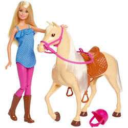Barbie Anziehpuppe Pferd mit Puppe, Spielset
