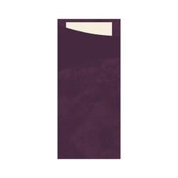 DUNI Sacchetto Serviettentaschen, Tissue, Praktische Bestecktasche, 1 Karton = 5 x 100 Stück, Farbe: plum
