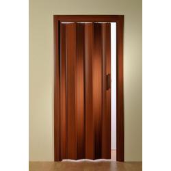 Falttür, Höhe nach Maß, Mahagoni ohne Fenster 135 cm