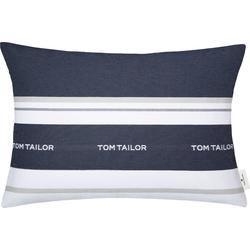 TOM TAILOR Kissenhülle Logo, mit eingewebtem Markenlogo