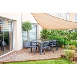 Sonnensegel 3,6m x 3,6m x 3,6m Dreieck Sandfarben Sonnenschutz Windschutz