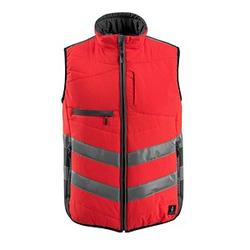 MASCOT® unisex Warnweste Grimsby  rot Größe XL