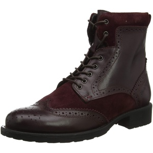 Hush Puppies Damen Jazz Kurzschaft Stiefel, Rot (Bordo Bordo), 42 EU