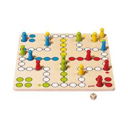 goki Spiel, Ludo aus Holz, 28 x 28 cm