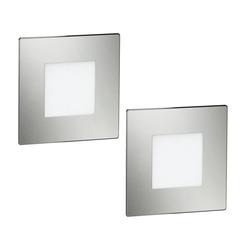 LED Treppen-Licht FEX Treppen-Leuchte, eckig, 8,5x8,5cm, 230V, blau, 2 Stk.