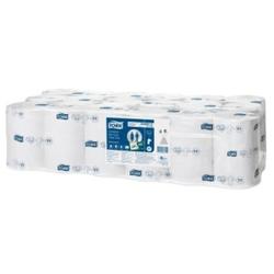 Tork Advanced Toilettenpapier Midi Rollen, Toilettenpapier für Tork Spender der Serie T 4 , 1 Karton = 36 Rollen, weiß, 2-lagig, B: 9,3 cm, L: 112,5 m