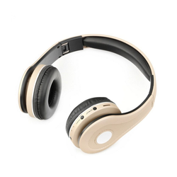 BlueStar Bluestar Kopfhörer MS-K5 Wireless Headset Headphones mit Mikrofon FM kompatibel mit Smartphones Handy Player Bluetooth Gold Wireless-Headset
