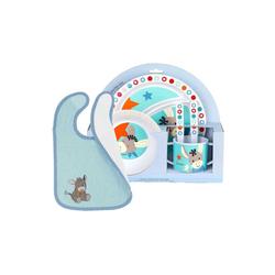 Sterntaler® Kindergeschirr-Set Esel Emmi Kindergeschirr mit Lätzchen 6-tlg (6-tlg)