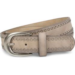 styleBREAKER Nietengürtel Gürtel mit Lochnieten Gürtel mit Lochnieten 90cm
