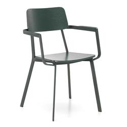 Design Stühle in Grün Schichtholz Metall (4er Set)