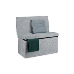 relaxdays Sitzhocker Faltbarer Sitzhocker mit Lehne L grau
