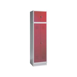 CP Aufsatzschrank Aufsatzschrank, Tür einwandig glatt rot 61 cm x 50 cm x 50 cm