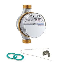 Wasserzähler kalt 2,5 m³ mit Anschlussgewinde 3/4'' - 110 mm - geeicht und beglaubigt