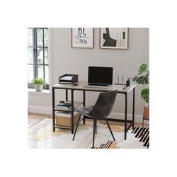 VASAGLE Schreibtisch LWD47X LWD47MB, Schreibtisch, Computertisch, Bürotisch, Industrie-Design, greige grau