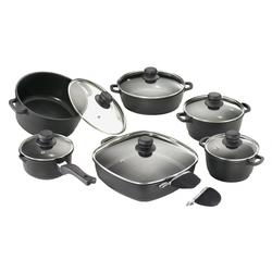 Karcher Topf-Set Aluguss, Aluminiumguss, (Set, 12 tlg.) schwarz Topfsets Töpfe Haushaltswaren