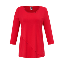 3/4-Arm-Shirt Rundhals-Shirt mit 3/4-Arm Anna Aura rot