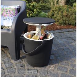 Keter Gartentisch, Coolbar Getränkekühler Kühlbox Garten Beistelltisch höhenverstellbar