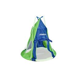 relaxdays Nestschaukel Zelt für Nestschaukel blau-grün 110 cm x 110 cm x 130 cm