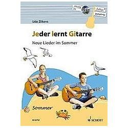 Jeder lernt Gitarre - Neue Lieder im Sommer  m. Audio-CD. Udo Zilkens  - Buch