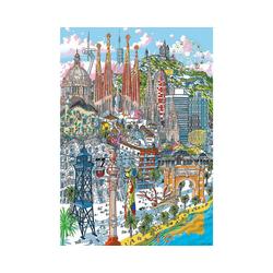 Educa Puzzle Citypuzzle Barcelona, 200 Teile, Puzzleteile