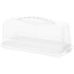 Rotho FRESH Kuchenbehälter, Aus Kunststoff, Maße: 360 x 165 x 165 mm, Farbe: transparent / weiß